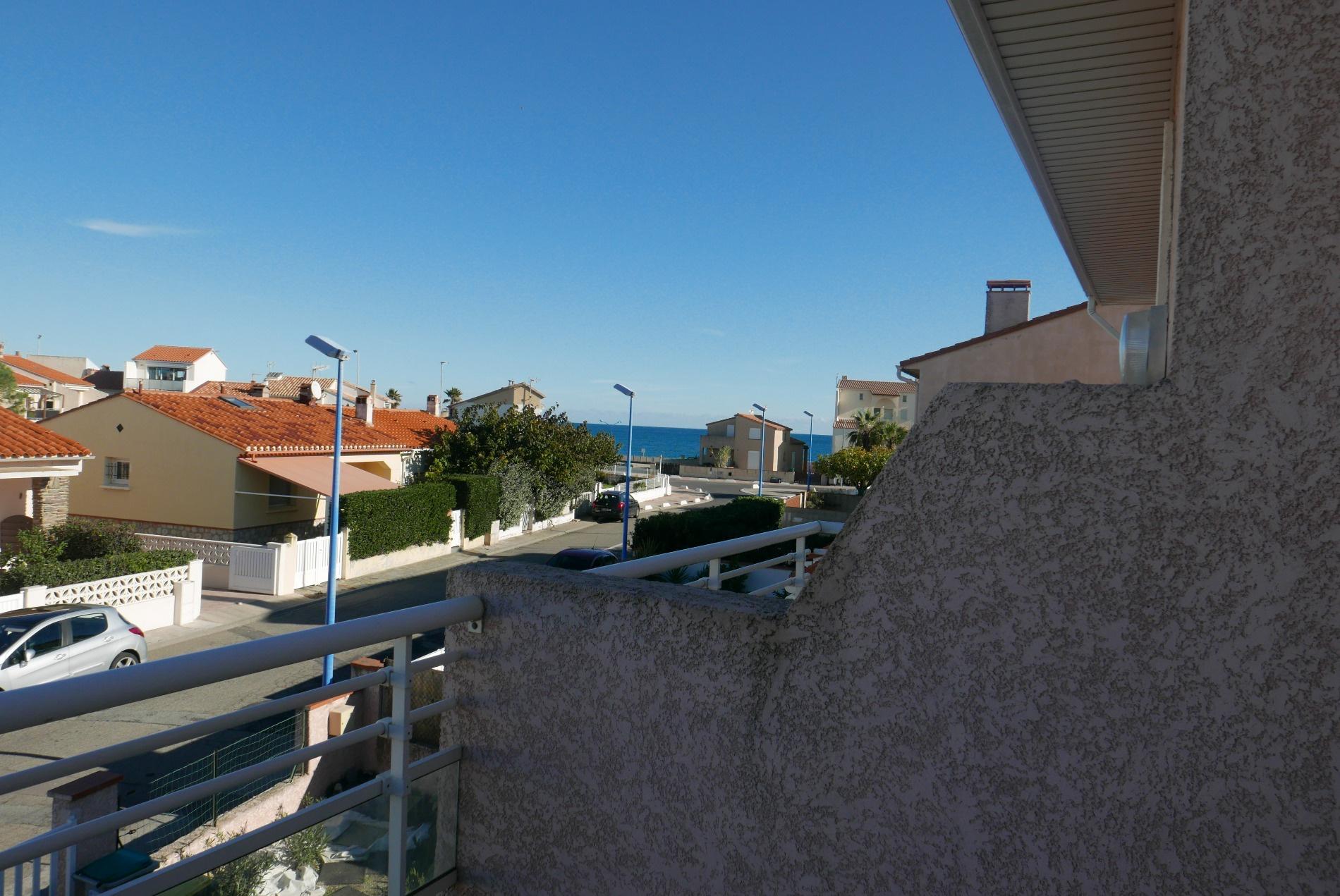Vue mer de la terrasse de la chambre 1
